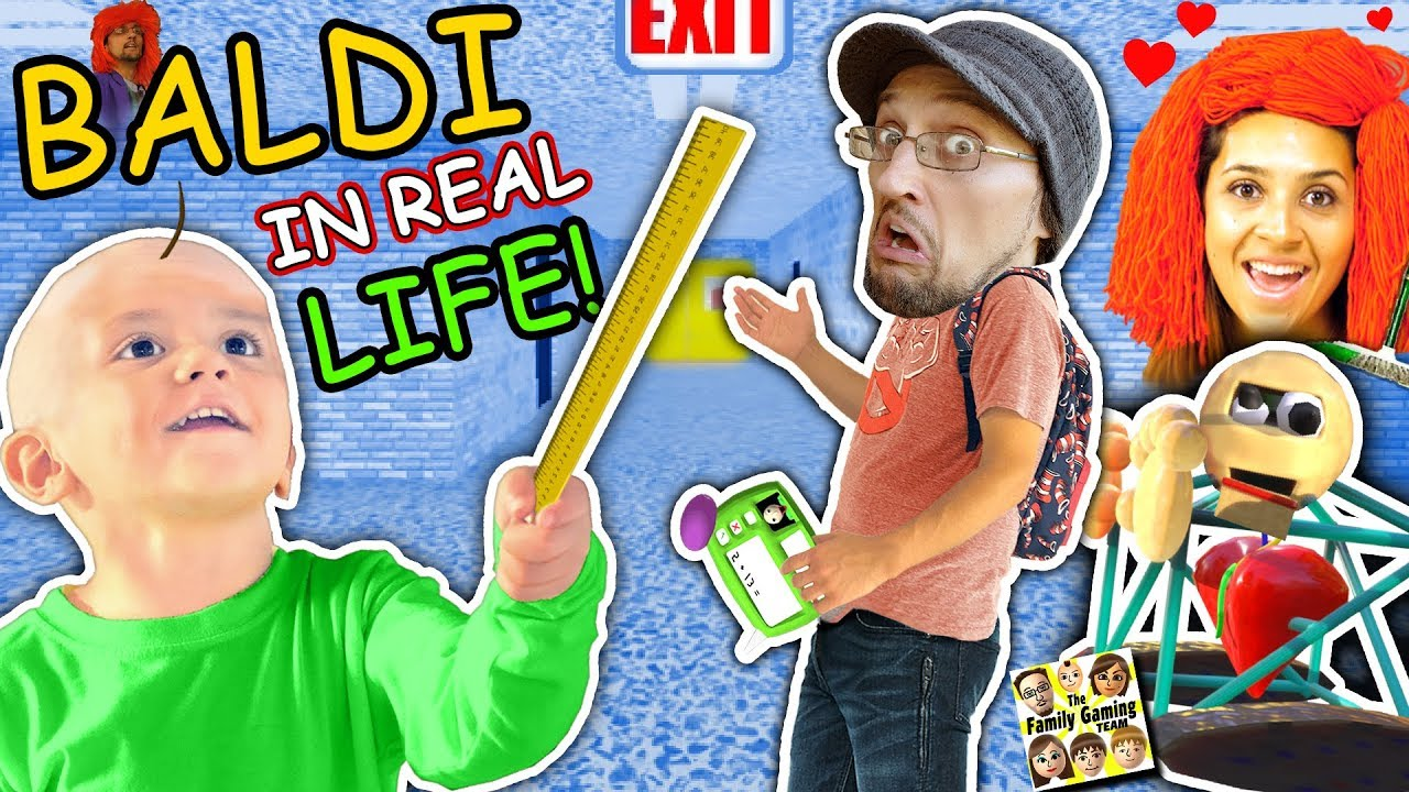 BALDIS BASICS In Real Life!! FGTEEV goes to School of Education & Learning (Skit)