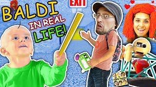 Baldi's Basics In Real Life!! Fgteev Goes To School Of Education & Learning  Skit