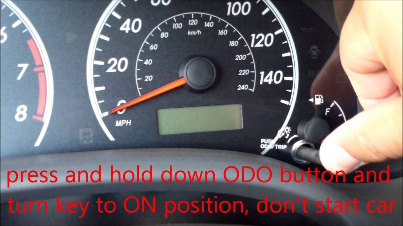 How To Reset Oil Maintenance Light Toyota Corolla Youtube