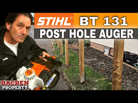 Stihl BT131 Earth Auger | Fence Post Hole Digger Review