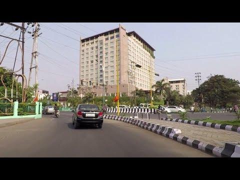 Driving in Indore (MR 10 Road) - Madhya Pradesh, India