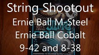 Guitar String Shootout: Ernie Ball M-Steel 9-42 vs. Cobalt 9-42 & 8-38 Comparison Test