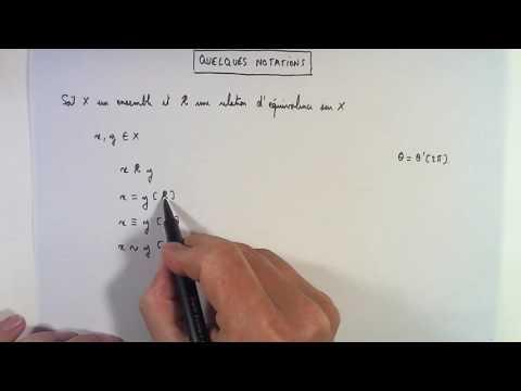 Relation d'équivalence : Définition et exemples.