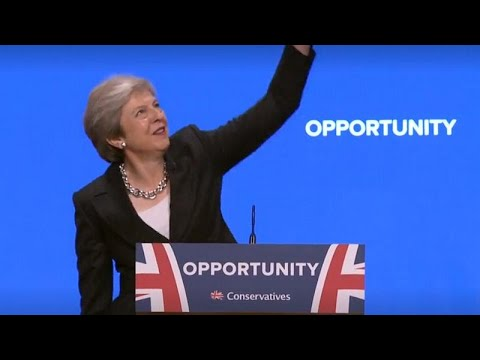 Watch: Theresa May grooves to ABBA's  'Dancing Queen' at Tory Conference