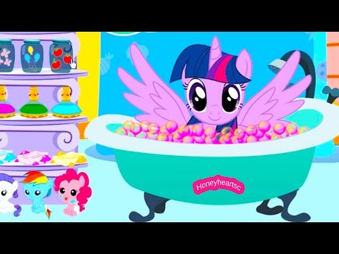 Twilight Sparkle Bubble Bath + Jumping - Let's Play Online Horse Games - Honeyheartsc