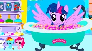 Twilight Sparkle Bubble Bath Jumping - Lets Play Online Horse Games -