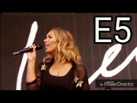 Power-Leona Lewis 'I am' Era live vocal range ( Belts A4-G5) 2015-2016