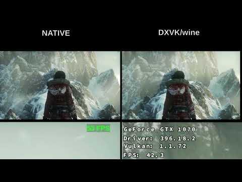 Benchmark DXVK+Wine vs Native - ROTR : linux_gaming