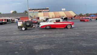Twin Turbo 1955 Chevy Bel Air at Midwest Drags 2021 - Glenn Hunter Jr.