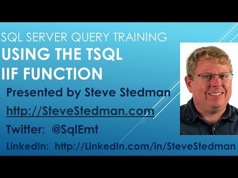 Using the TSQL IIF Function