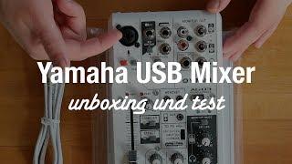 Yamaha AG03 USB Audio Interface Mixer (Unboxing und Sound Test)