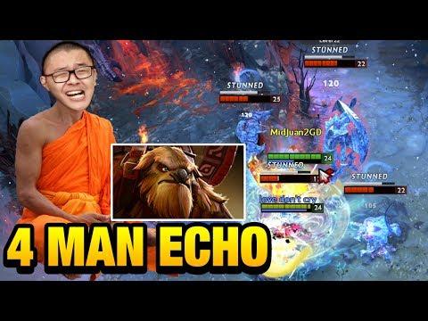 MidOne Dota 2 [Earthshaker] 4 Man Echo Slam