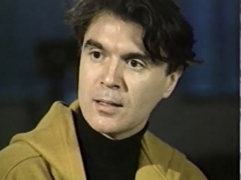 "David Byrne ""Uh-Oh"" The Blue Spotlight interview (1990)"