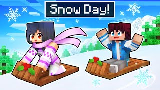 School is CLOSED for a SNOW DAY In Minecraft!
