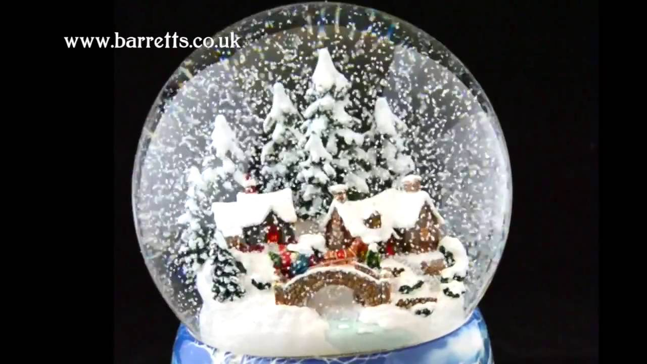 German Musical Snow Globes From Barretts Winter Village