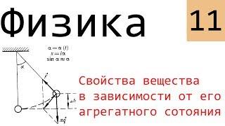 Физика. 11. Свойства тела в зависимости от его агрегатного состояния