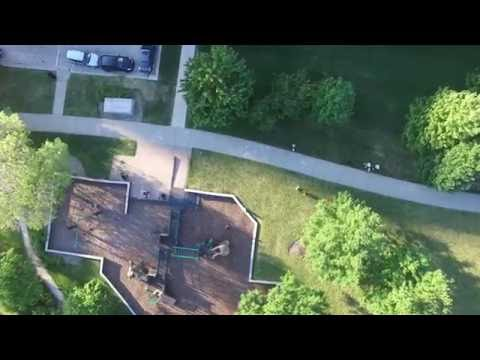 Flying over museum campus