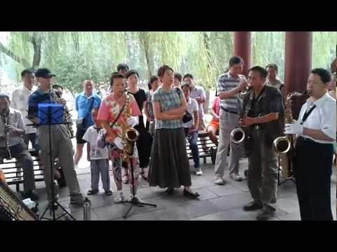 A local group of musicians at Summer Palace, Beijing