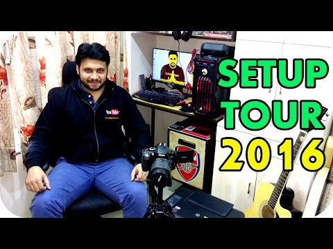 My Setup Tour &  New Gaming/Rendering  PC 2016 ! [Hindi / India]
