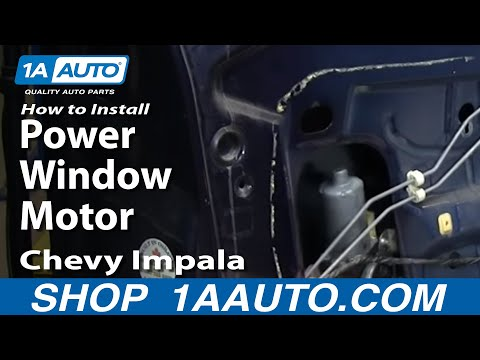 How to install repair replace power window motor chevy for 2001 chevy impala window regulator
