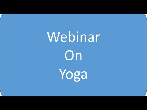 Webinar on Yoga