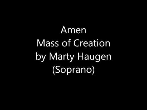Amen (Soprano) Mass of Creation by Marty Haugen