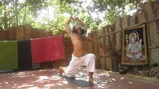 Sun Salutation / Surya Namaskara at Namaste Yoga Farm in Gokarna