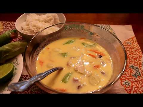 Trying Tom Kha Gai, Coconut Chicken Soup with Rice and Spring Rolls