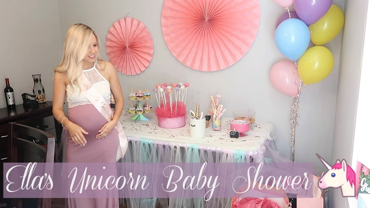 Ella S Baby Shower Unicorn Theme Baby Shower Diy Beauty And The