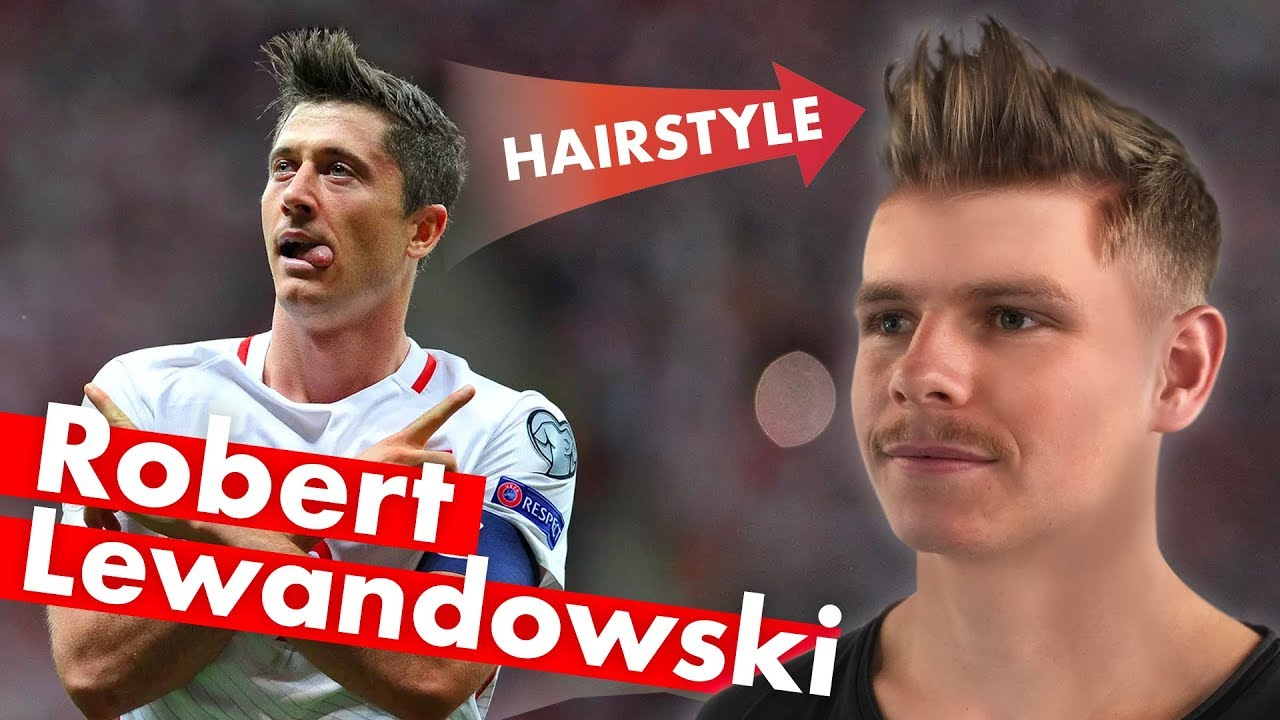 robert lewandowski hairstyle - world cup 2018 - men's hair