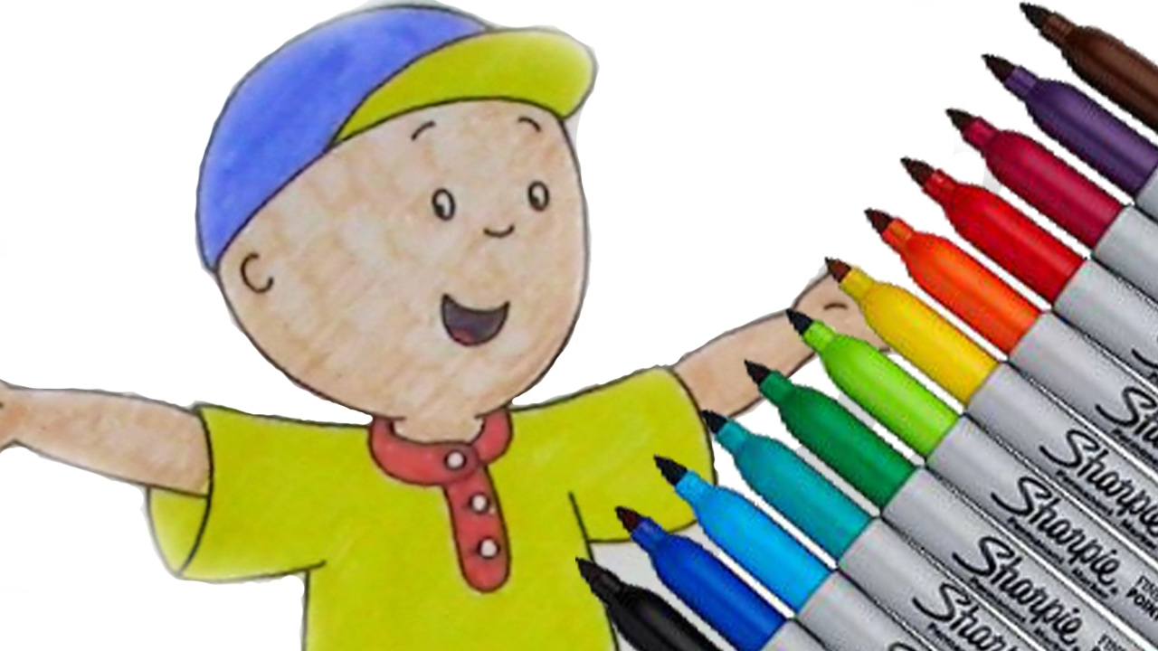 caillou pbs kids coloring page 2017 new hd video for kids youtube