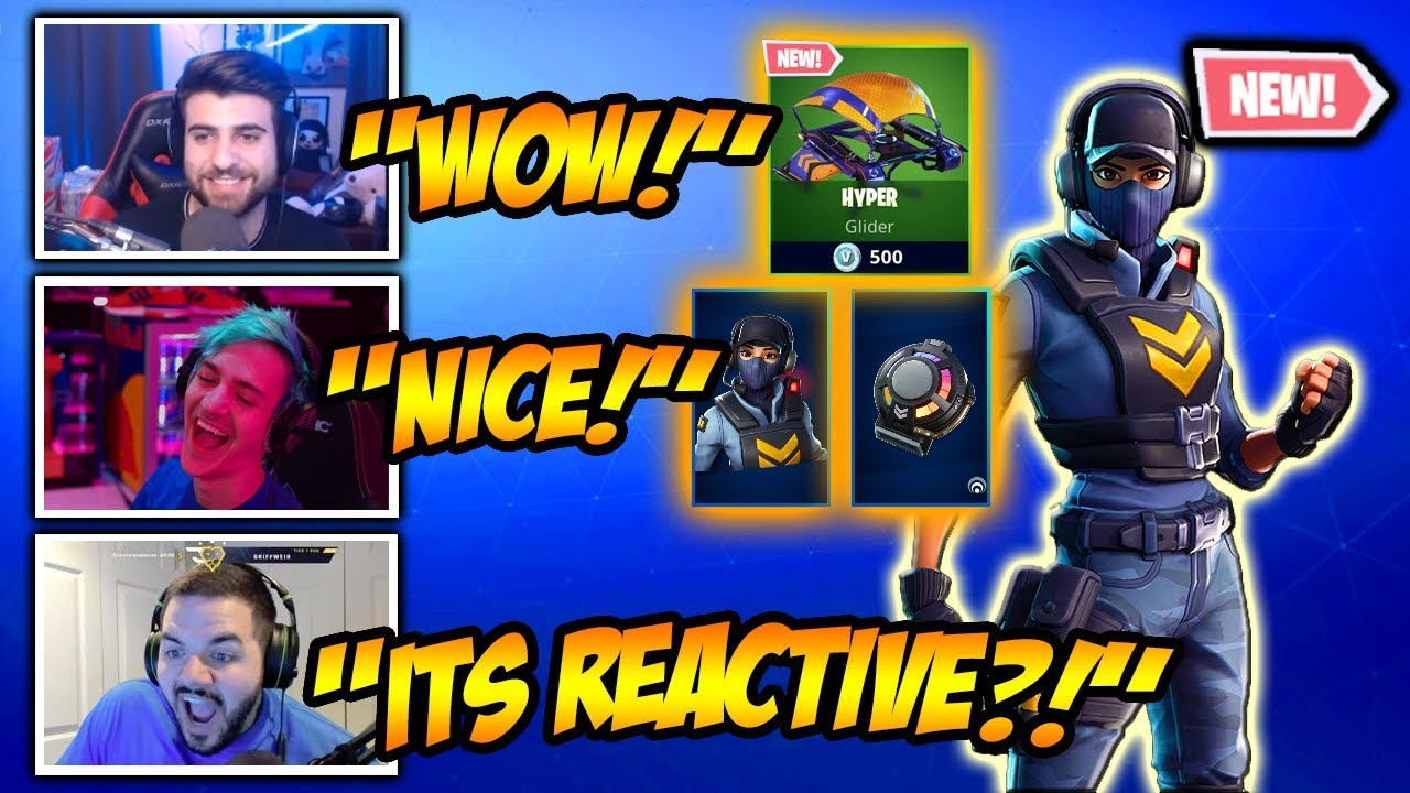 Streamers *REACT* To New Waypoint Skin & Reactive Backbling! Funny Fortnite  Clips & Crazy Moments!