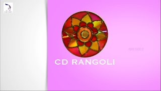 DIY : CD Rangoli | Rangoli Tutorial | Simple Rangoli Designs