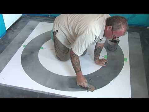 Concrete Stencils - Using Stencils With A Skimcoat