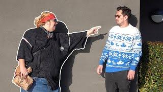 Fat Guy Abusing People in Public!