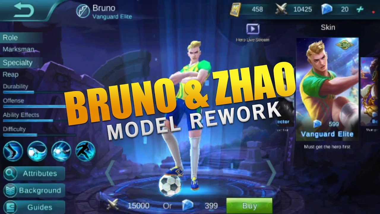 YUN ZHAO & BRUNO REWORK (Mobile Legends)