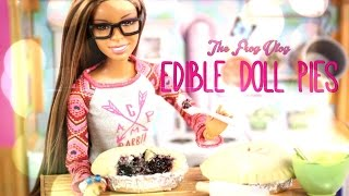 The Frog Vlog: Edible Doll Pies - Doll Crafts & Baking