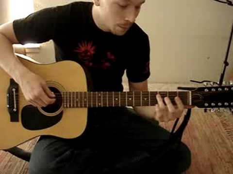 How to play the Offsprings - Gone Away (12 string acoustic)