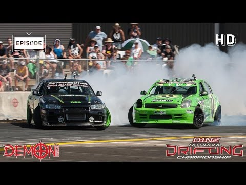 Demon Energy D1NZ Drifting Highlights: Round 3 - ASB Baypark, Tauranga 2015