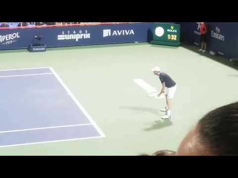 Sam Querrey wins MATCH POINT vs Jo-Wilfred Tsonga Montreal Rogers Cup 2017