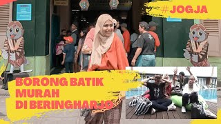 SHOPPING BATIK CHALLENGE Rp300.000 DI PASAR BERINGHARJO, TAWAR HARGA SAMPAI SADIS