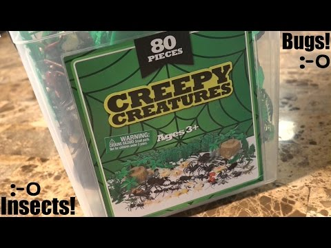 Bug and Insect Toys for Kids: Unboxing an 80 Pieces of Creepy Creatures w/ Hulyan