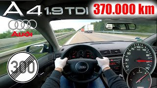Audi A4 1.9 TDI B6 8E TOP SPEED NO LIMIT AUTOBAHN GERMANY