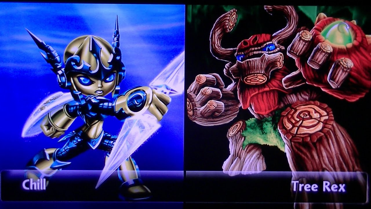 skylanders giants legendary chill vs tree rex youtube