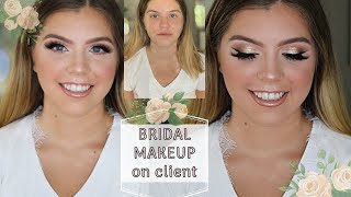 👰🏼 BRIDAL MAKEUP ON CLIENT | STEP BY STEP CLIENT TUTORIAL