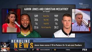 Colin Cowherd Breaking Aaron Jones scores 3 TD in Packers 24-16 win over Panthers   The Herd