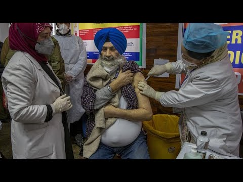 Начало вакцинации в Индии