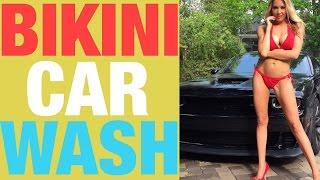 Repeat youtube video Bikini Car Wash:  Model Christina vs SRT Hellcat