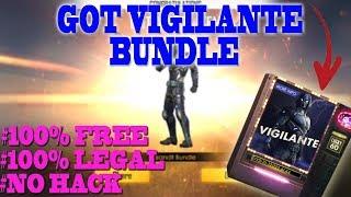 100% Free Legal Way To Got Vigilante  Bundle || GARENA FREE FIRE