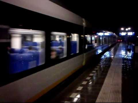 Trains passing fast through Gilze-Rijen in Holland